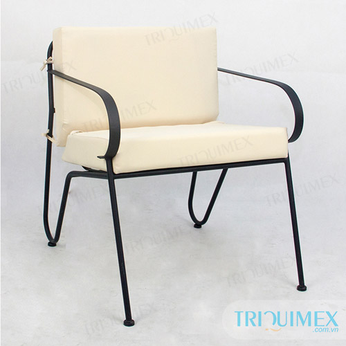 Wrought Iron Individual Sofa