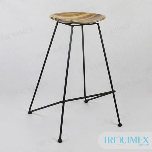 Iron bar stool from Vietnam metal funiture manufacturer