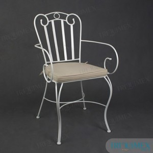 artistic iron dining chair with elegant patterns