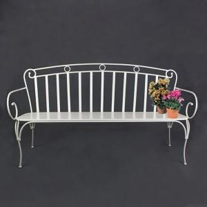 Artistic iron garden bench