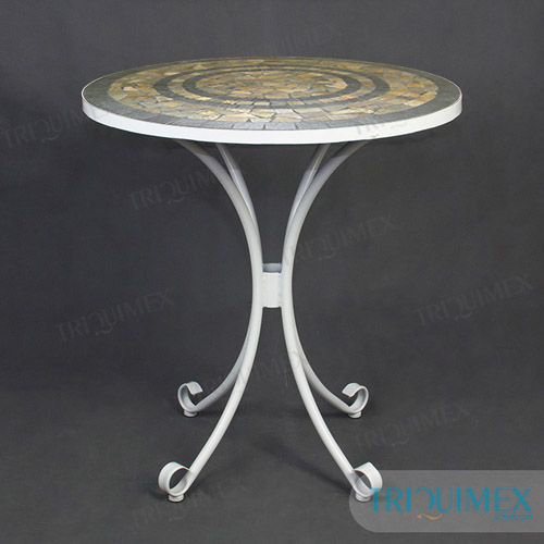 Round Mosaic Coffee Table made by Triquimex