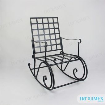Aesthetic iron rocking chair