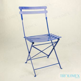 Wrought iron outdoor coffee folding chair