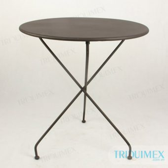 modern wrought iron round table