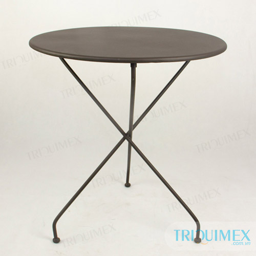 modern wrought iron round table