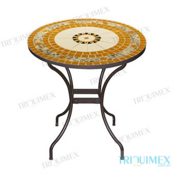Mosaic coffee round table