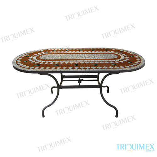 Oval coffee table made by Triquimex
