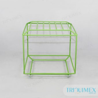 Pedestal iron frame stool from Triquimex