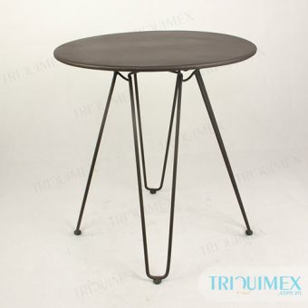 Powder coated wrought iron round table