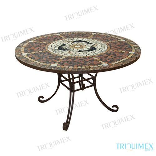 Mosaic round table for restaurant