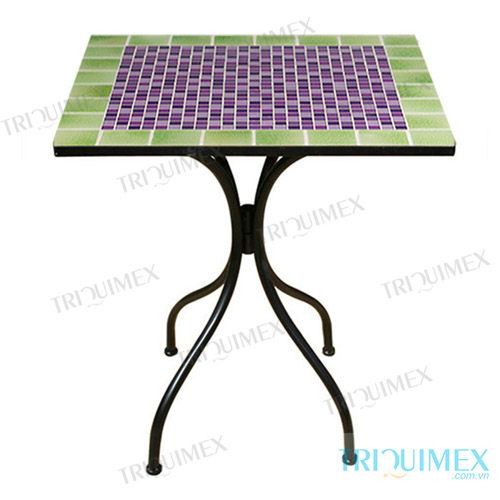 Square mosaic coffee table top
