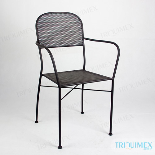 Wrought iron lattice sheet chair