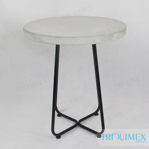 Lightweight concrete round table