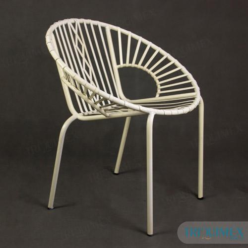 Powder coated iron coffee chair