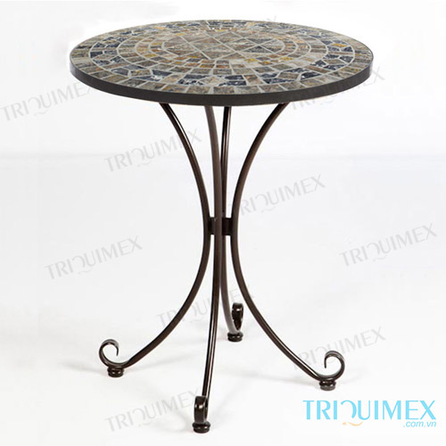 Round mosaic coffee table