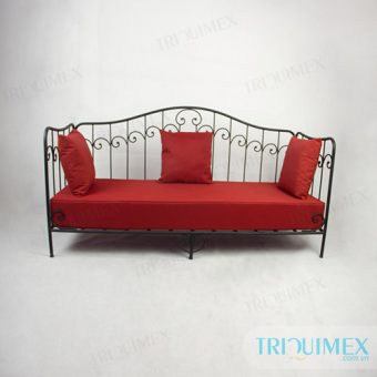 Wrought iron sofa bed