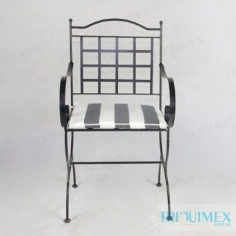 GH-145 aesthetic wrought iron chair from Triquimex